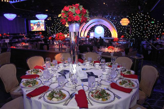 Hillel Hebrew Academy Gala's Set and Room Design at the Beverly Hilton International Ballroom