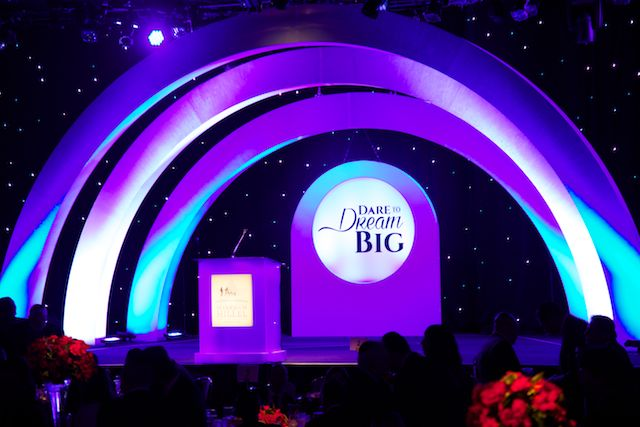 Hillel Hebrew Academy Gala's Stage Design at the Beverly Hilton International Ballroom