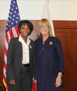Los Angeles District Attorney Jackie Lacey with Sarah Weintraub