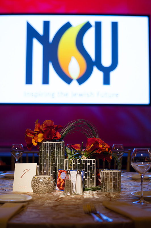 NCSY and Anne Samson Tribute Dinner's Set Design at the The Hudson Theatre in Manhattan