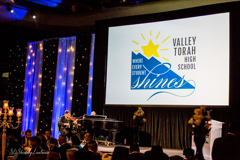 Valley Torah High School Gala's Stage Design at the Hilton Universal City Hotel